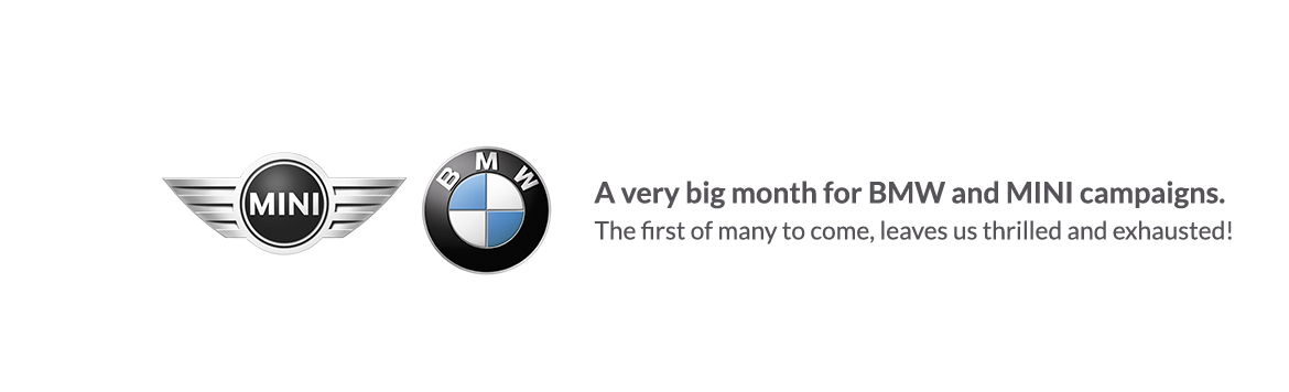 A very big month for BMW and MINI campaigns – September 2011