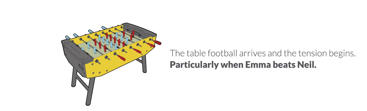 Table football arrives – October 2011